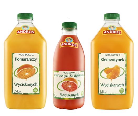 Świeże soki Andros